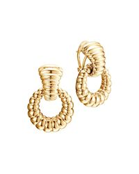 John Hardy - Metallic Bedeg 18k Gold Door Knocker Earrings - Lyst
