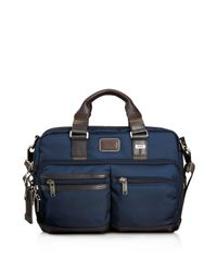 Tumi - Blue Andersen Slim Commuter Briefcase for Men - Lyst
