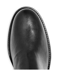 Aquatalia - Black Women's Bryana Weatherproof Leather Tall Boots - Lyst