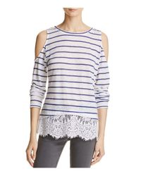 Generation Love - Multicolor Martha Striped Top With Lace-hem - Lyst