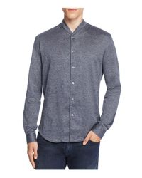 Armani | Blue Regular Fit Button-down Shirt for Men | Lyst