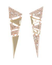 Alexis Bittar - Metallic Dangling Triangle Drop Earrings - Lyst