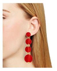 BaubleBar - Red Criselda Ball Drop Earrings - Lyst