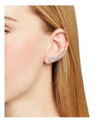 Nadri - Metallic Ivy Ear Climbers - Lyst