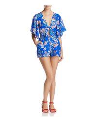 Yumi Kim | Blue Castaway Floral Flutter Sleeve Romper | Lyst
