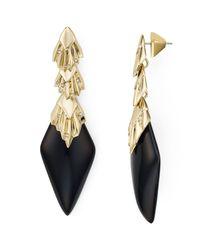 Alexis Bittar - Multicolor Crystal Studded Pleated Drop Earrings - Lyst