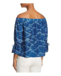 Cooper & Ella - Blue Willa Off-the-shoulder Top - Lyst