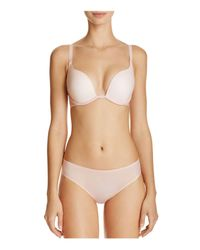 Fine Lines - Blue Sheers Extreme Plunge Convertible Bra - Lyst