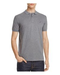 PS by Paul Smith - Gray Spaceman Piqué Slim Fit Polo Shirt for Men - Lyst
