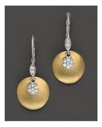 Meira T | Metallic 14 Kt. Yellow Gold/diamond Drop Earrings | Lyst