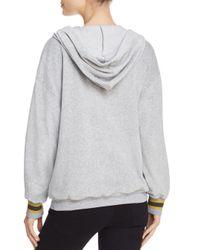 Project Social T - Gray Nixon Velour Hooded Sweatshirt - Lyst
