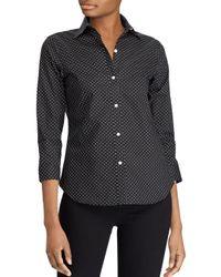 Ralph Lauren - Black Lauren Dot-print Shirt - Lyst