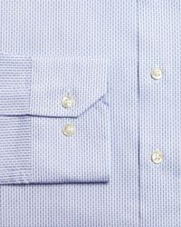 Bloomingdale's - Blue Dobby Slim Fit Dress Shirt for Men - Lyst