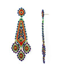 Miguel Ases - Multicolor Beaded Drop Earrings - Lyst
