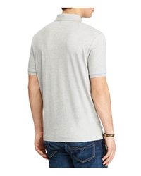 Polo Ralph Lauren - Gray Classic Fit Soft-touch Polo Shirt for Men - Lyst