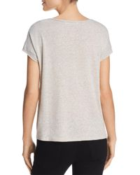 Project Social T - Gray Alora Striped Tee - Lyst