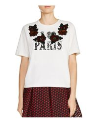 "Maje - White Toulouse ""i (heart) Paris"" Tee - Lyst"