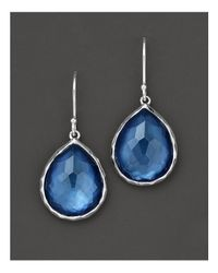 Ippolita | Metallic Sterling Silver Wonderland Teardrop Earrings In Indigo | Lyst