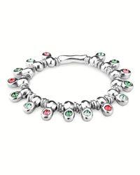 Uno De 50 - Metallic Jungle Love Crystal Stretch Bracelet - Lyst