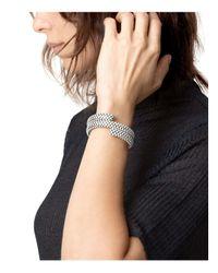 John Hardy - Sterling Silver Dot Double Coil Bracelet In White - Lyst