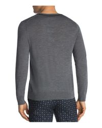 The Kooples - Gray Merino And Leather Sweater for Men - Lyst