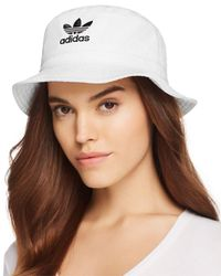 Adidas Originals - White Unisex Denim Bucket Hat - Lyst