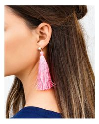 Gorjana - Pink Tulum Gem Tassel Earrings - Lyst