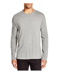 T By Alexander Wang | Gray Classic Long Sleeve Tee for Men | Lyst
