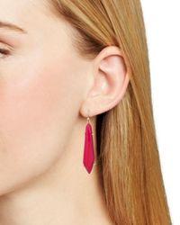 Kendra Scott - Red Grey Drop Earrings - Lyst