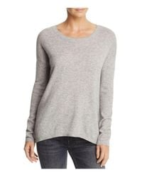 Joie | Gray Soft Effie Crossback Wool-cashmere Sweater | Lyst