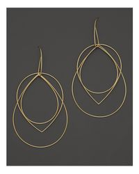 Lana Jewelry | Metallic 14k Yellow Gold Large Three Tier Drop Earrings | Lyst