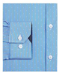 W.r.k. - Blue Dot Stripe Slim Fit Dress Shirt for Men - Lyst