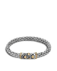 John Hardy - Metallic Sterling Silver And 18k Bonded Gold Naga Chain Bracelet - Lyst