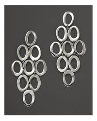 Ippolita | Metallic Sterling Silver Open Oval Cascade Earrings | Lyst