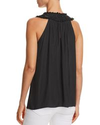 Ramy Brook - Black Anne Embellished-yoke Top - Lyst