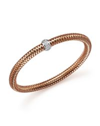 Roberto Coin | Pink 18k Rose Gold Primavera Stretch Bracelet With Diamonds | Lyst