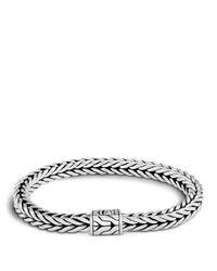 John Hardy | Metallic Men's Sterling Silver Small Square Chain Bracelet for Men | Lyst