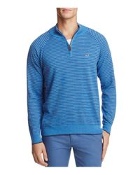 Vineyard Vines - Blue Classic Stripe Quarter-zip Sweater for Men - Lyst