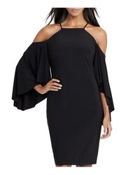 Ralph Lauren - Black Lauren Bell-sleeve Dress - Lyst