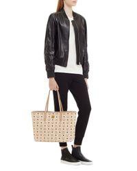 MCM - Natural Anya Top Zip Shopper In Visetos - Lyst