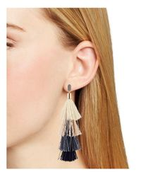Rebecca Minkoff - Multicolor Stacked Tassel Drop Earrings - Lyst