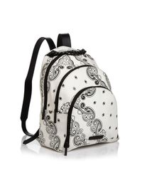 Kendall + Kylie Black Sloane Bandana Print Backpack