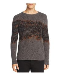 John Varvatos - Gray Diffused Artist Crewneck Sweater for Men - Lyst