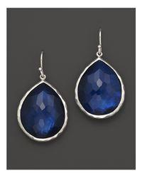 """Ippolita   Blue """"midnight Wonderland"""" Sterling Silver Rock Candy Large Single Teardrop Earrings In Midnight   Lyst"""