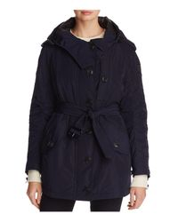 Burberry - Blue Hailmere Belted Parka - Lyst