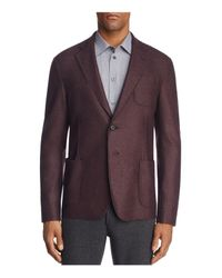 Armani - Red Marled Classic Fit Sport Coat for Men - Lyst