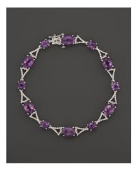 Badgley Mischka - Multicolor Amethyst And Diamond Bracelet - Lyst