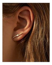 Shinola - Metallic 14k Yellow Gold Bolt Stud Earrings - Lyst