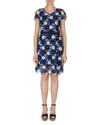 Gerard Darel - Blue Doralia Floral-lace Dress - Lyst