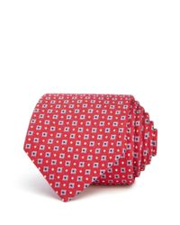 Bloomingdale's - Red Mini Squares Classic Tie for Men - Lyst